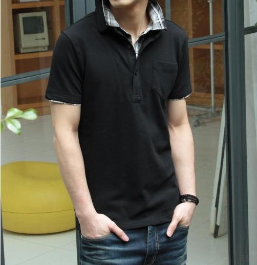 春 男性モテ服ポロシャツ