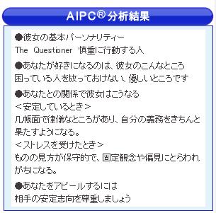 恋愛・結婚情報サービス エンジェル AIPC分析結果