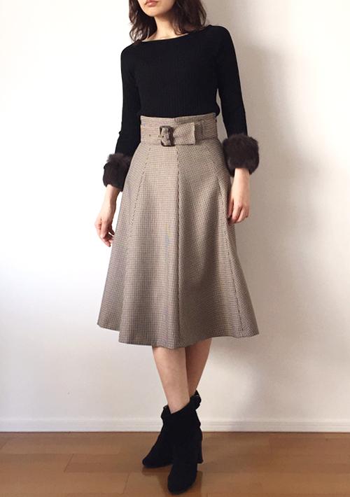 婚活デートアウター秋30代 ハイウエストスカート