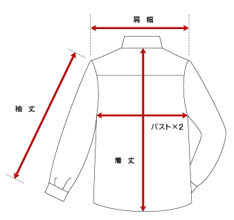 シャツの寸法の量り方